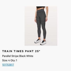 Train times striped lululemon leggings
